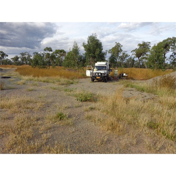 Camp on Hann H'way, north of The Lynd. Nth Qld