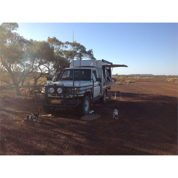 At Poddy Ck parking bay, west of Winton Qld