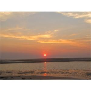 Smoky sunset Sept 11