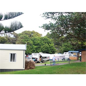 View of the part of the caravan area