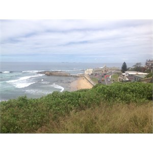 Newcastle Beach, from Fort Scratchley