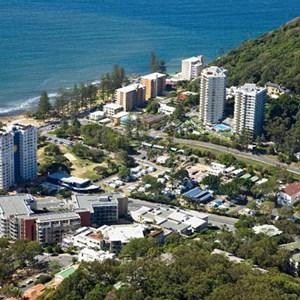 Opposite famous Burleigh Beach, Burleigh Beach Tourist Park, Gold Coast