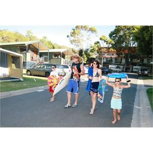 A stroll to the beach from Burleigh Beach Tourist Park, Gold Coast