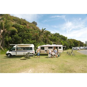 Caravanning at Ocean Beach Tourist Park, Gold Coast