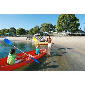 Plenty of water activities at Tallebudgera Creek Tourist Park, Gold Coast