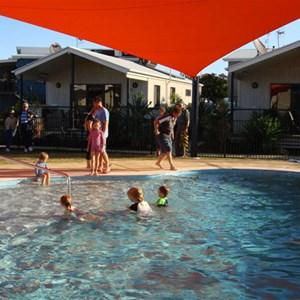 Poolside villas at Broadwater Tourist Park, Gold Coast