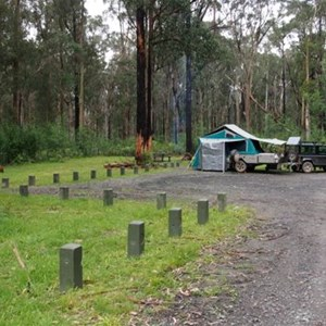Looking back to campsites 1 & 2.