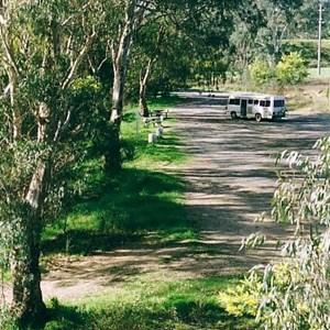 Gravel area alongside river