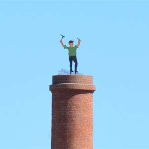 Johnny Green atop of Peacock's Chimney