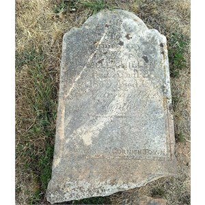Headstone from 1849
