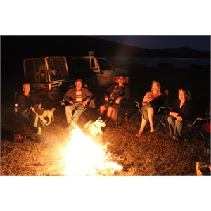 Campers having fun