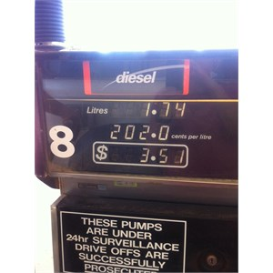 Diesel Price 5th Aug 2013