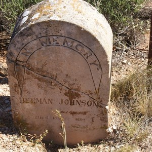 Herman Johnsons Grave Site