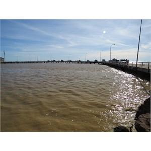 High tide 11.61m at the wharf