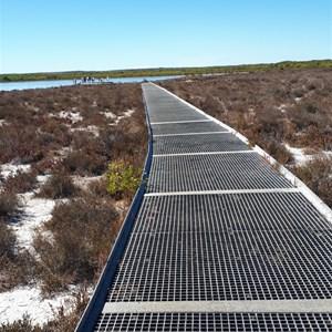Boardwalk to main viewing platform