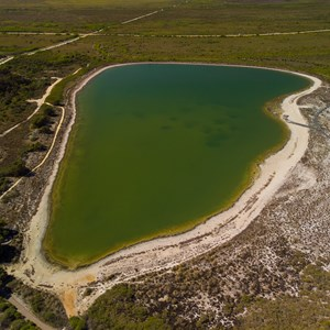Aerial view over Lake Thetis 2019
