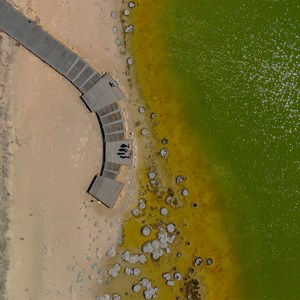 Drone view of main viewing platform