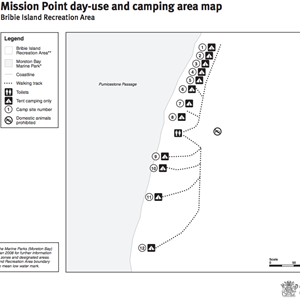 Mission Point camping area
