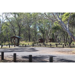 Parking and picnic facilities with toilets