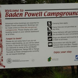 Baden Powell booking warning
