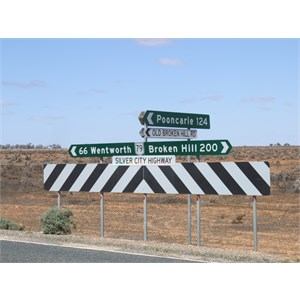 Silver City Hwy - Old Broken Hill Road Intersection
