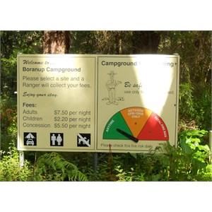 Boranup campground entrance sign