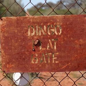 Dingo Flat Gate - Commonwealth Hill Station Dog Fence.