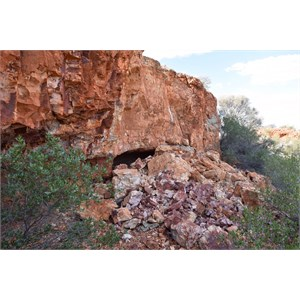 Rockfall at side of Mesa
