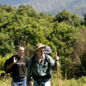 Bushwalkers at Mooraback, Cottan-Bimbang National Park, Credit: J Spencer, Copyright: OEHand & www.nationalparks.nsw.gov.au