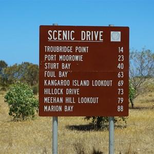South Coast Tourist Drive Turn Off