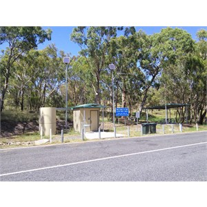 The toilet and one picnic area