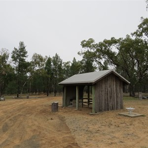 Campsite and picnic shed
