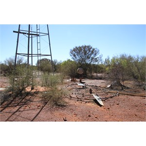 Remains of the Hunt Oil Camp windmill