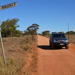 Wonuarra Road Turn Off