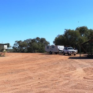 Camping area at Glengyle Rest Area at Cutta Burra Crossing