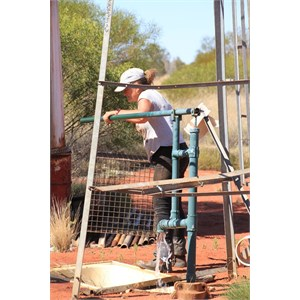 Hand pump at Midway Bore - Aug 2015