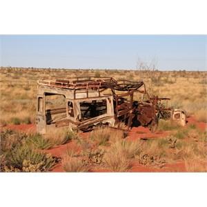 Landrover Wreck - Talawana Track August 2015