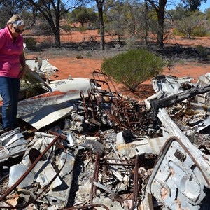 Light Plane Crash Site