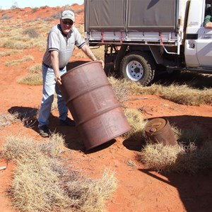 2 old 44 Gallon Drums