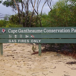 Cape Gantheaume Conservation Park Boundary Sign