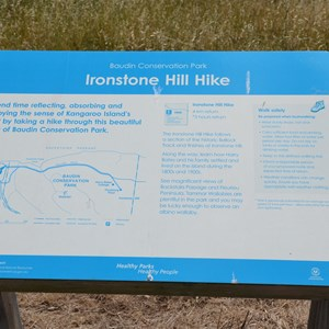 Ironstone Hill Hike Sign