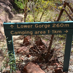Lower Gorge Track Sign