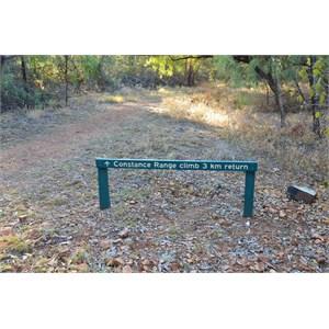 Constance Range Walk Sign