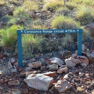 Constance Range Track Sign