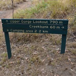 Upper Gorge Walk Track Sign