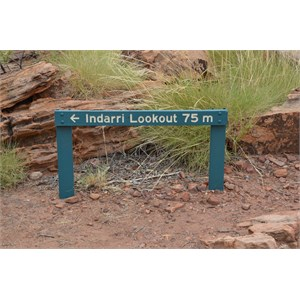 Upper Gorge Walk Track Junction Sign - Indarri Lookout
