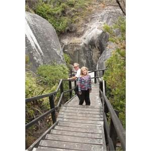 Steps down to Elephant Cove