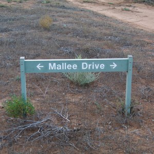 Mallee Drive Direction Sign