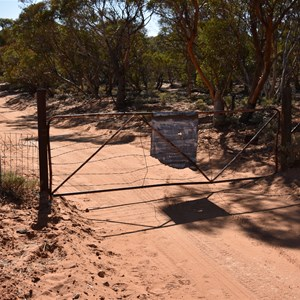 Closed Gate - 2nd heading north to Gluepot Reserve
