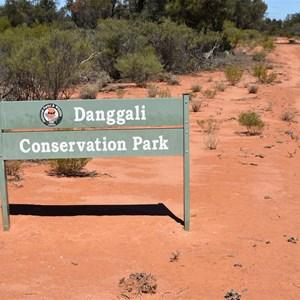 Danggali Conservation Park Sign